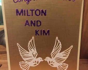 Wedding couple congratulations card