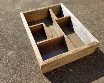 Reclaimed Wood Shadow Box / Valet Tray