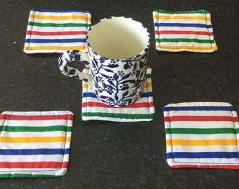 Striped coasters - set of 5
