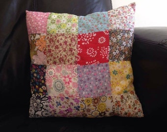 Patch work cushion