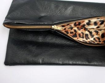 Black Fold Over Bag