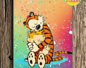 Calvin And Hobbes Watercolor Art Print, Calvin and Hobbes Wall Art, Nursery Wall Decor, Buy 2 get 3rd FREE