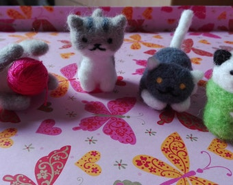 NEKO ATSUME-kittens of wool enfieltrable (needle felt)