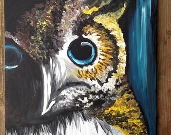 Dark Owl 16x20 Original Painting