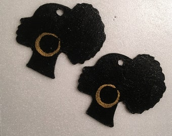 Afro Puff Earrings