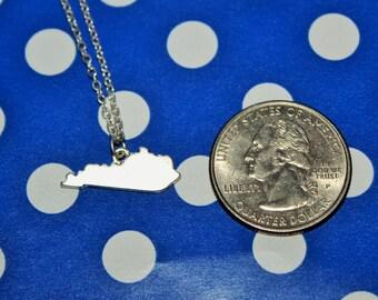 Small Kentucky Silver Necklace
