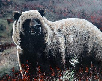 "Bear painting 24""x 30"""