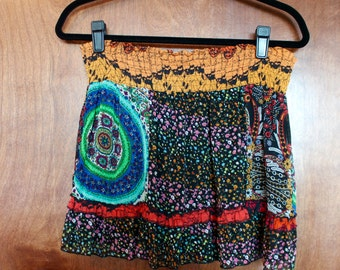 colorful mini skirt with stretchy waist - medium