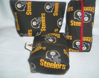 Small Zippered Steelers Cosmetic bag