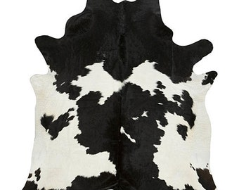 Black and White cow hide rug (multiple sizes)