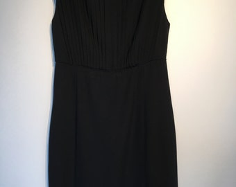 Vintage Black Dress - LBD - Medium