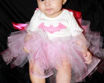 Baby Batgirl Tutu Set Customized