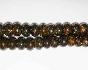 SALE! Bronzite beads rondelle beads 6x8mm beads brown stone beads large holed beads semiprecious stone semiprecious beads bronzite