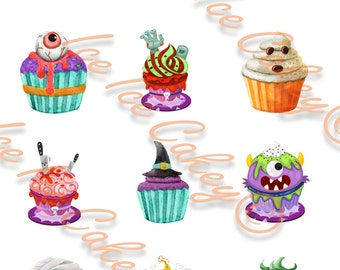 Halloween Cupcake Toppers - Version #1
