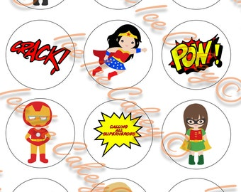 Superhero Cupcake Toppers - Version 1
