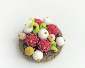 "Brooch ""Ripe berry"""