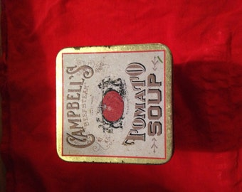 Campbells tomato soup can vintage