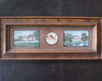 Rustic Wood Framed Wall Picture / Decor