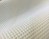 2 Yards of White Woven Outdoor Sunbrella Fabric.