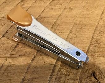 Regal Model 25 Stapler, Small Vintage Stapler, Handheld Stapler, Butterscotch Accent , Mini Stapler , Miniature Stapler , Office , Personal
