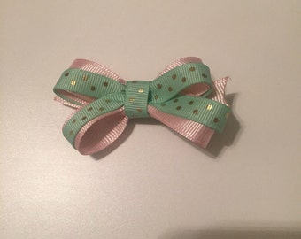 Tiny Double Ribbon Clip Bow