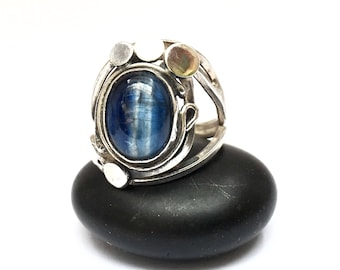 Ring kyanite kyanite silver solid sterling Silver 925 thousandth size euro 53 1/2 size us 6.25 swiss 13 1/2