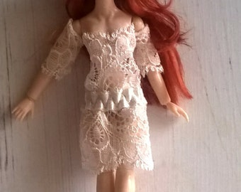 12th scale dollhouse cute Lace dress TWO ways to wear