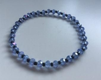 Handmade Glass Bracelet in Blue and Black