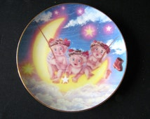 """Dreamsicles Angels Cherubs collectors Plate """"By The Light of the Moon"""""""
