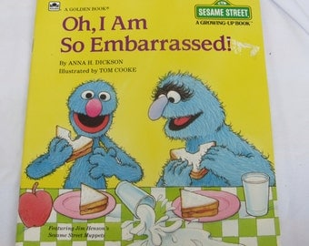 Reduced Vintage Book Sesame Street A Growing-up Book Oh, I am So Embrassed! Paperback