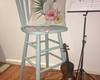 Beautiful Annie Sloan Duck Egg Chalk Painted Chair