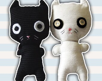 Plush handcrafted | Mr. Cat | Snowman | Gift idea