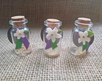 Magnet small bottle Jasmine - Original Iman - decoration - Decorative magnet - home decoration - decoration kitchen - fridge magnet