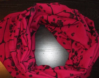 Maroon and flower  Infinity Scarf