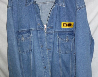 1990s M & Ms Fashion Jean Jacket by Planet Mars  Excellent