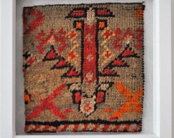 Framed Rug Fragment (24 x 24cm)