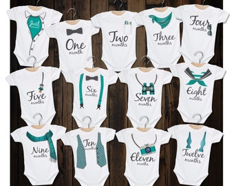 Monthly onesies/Month by month onesies/13 Monthly onesies/Watch me grow/Baby monthly onesie/Grow with me bodysuit/Baby shower gift