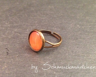 Ring bronze Orange