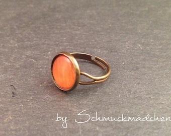 Ring bronze Orange