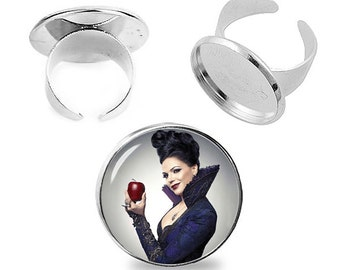 Once upon a time Regina Ring Evil Queen Adjustable ring Once upon a time Jewelry Fanboy Fangirl