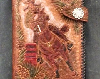Horse and Deer Leather Art