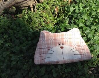 Handmade cat purse