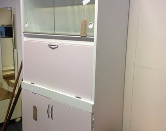 Over2hills Upcycled Vintage 1950sGlass Door Kitchen Unit NOW REDUCED