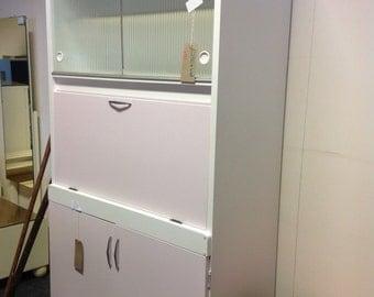 Over2hills Upcycled Vintage 1950sGlass Door Kitchen Unit