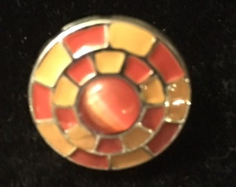 Orange Snap that fits all snap jewelry - 20mm
