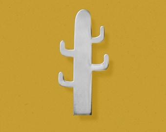 Pin Brooch Summer Cactus Silver