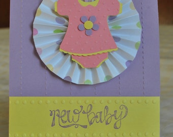 Baby Girl Greeting Card - Baby Shower, New Baby - Blank Inside