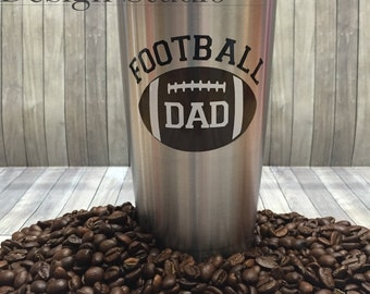 Football Dad 20oz Stainless Steel Insulated Tumbler