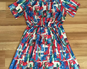 Vintage Anthony Richards Abstract Dress XL/2XL