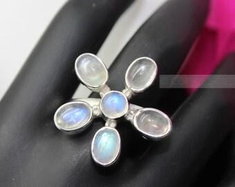 Moonstone Ring, 925 Sterling Silver Ring, Gemstone Rings, Crystal Rings, Healing Rings